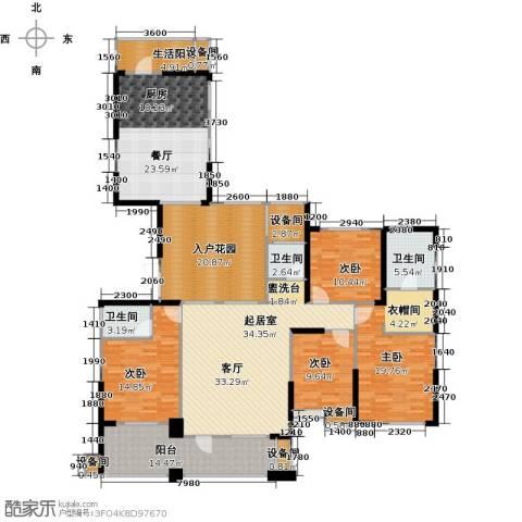 联诚国际城4室1厅3卫0厨188.00㎡户型图