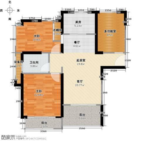 绿地21城滨江汇2室0厅1卫1厨89.00㎡户型图
