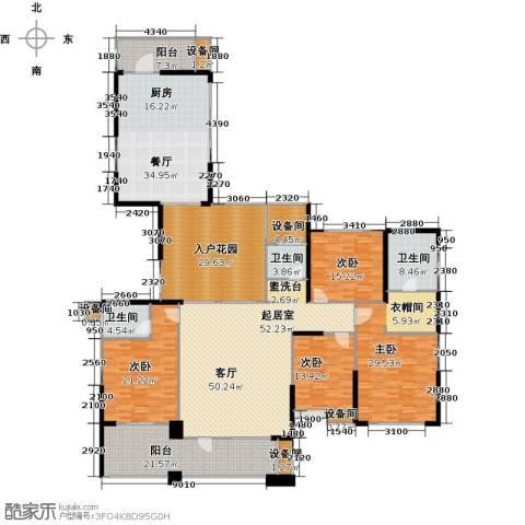 联诚国际城4室1厅3卫0厨250.27㎡户型图