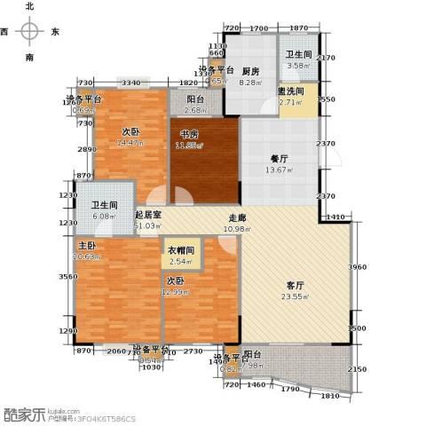华江.乐天花亭4室0厅2卫1厨153.00㎡户型图