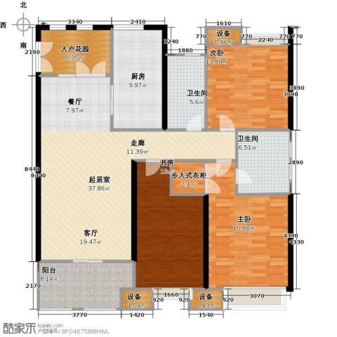 扬州鸿舜御峰3室0厅2卫1厨139.00㎡户型图