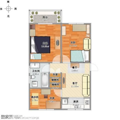 蔷薇八村3室1厅1卫1厨75.00㎡户型图