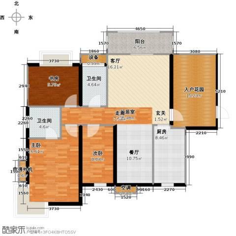 富川瑞园3室0厅2卫1厨156.00㎡户型图
