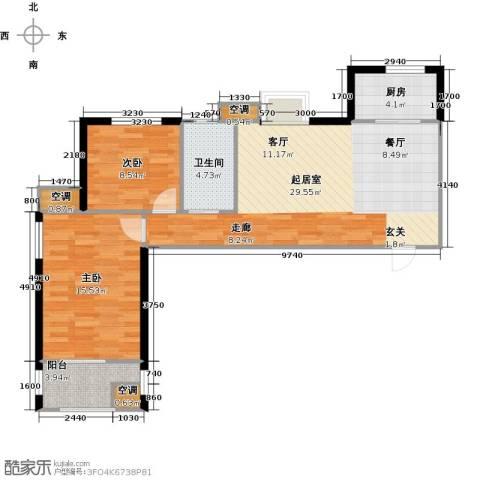 莱茵小城2室0厅1卫1厨94.00㎡户型图