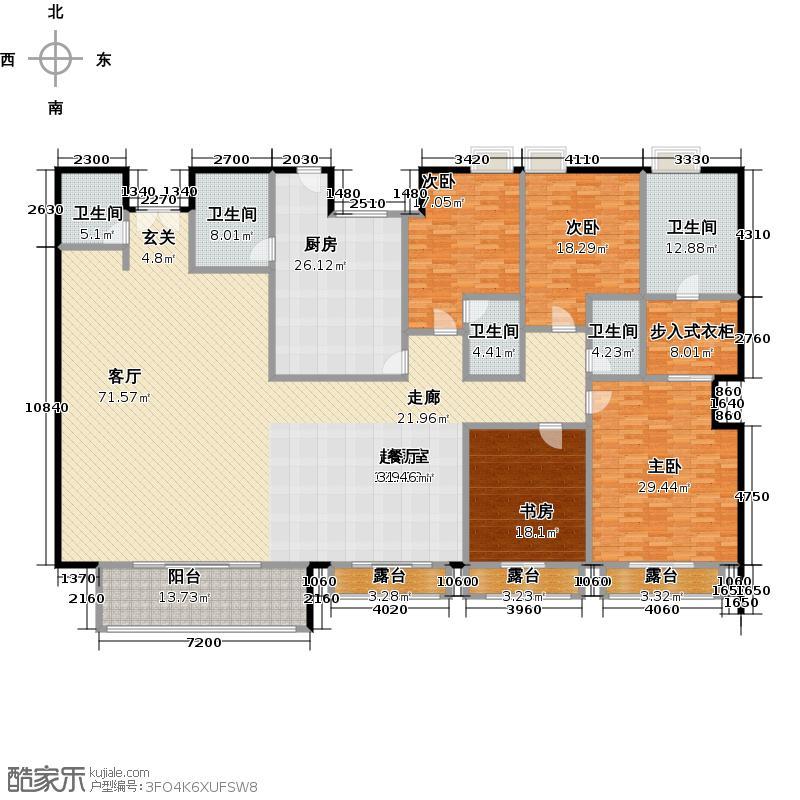 湖畔佳苑二期340.00㎡四房二厅五卫-340平米-28套户型