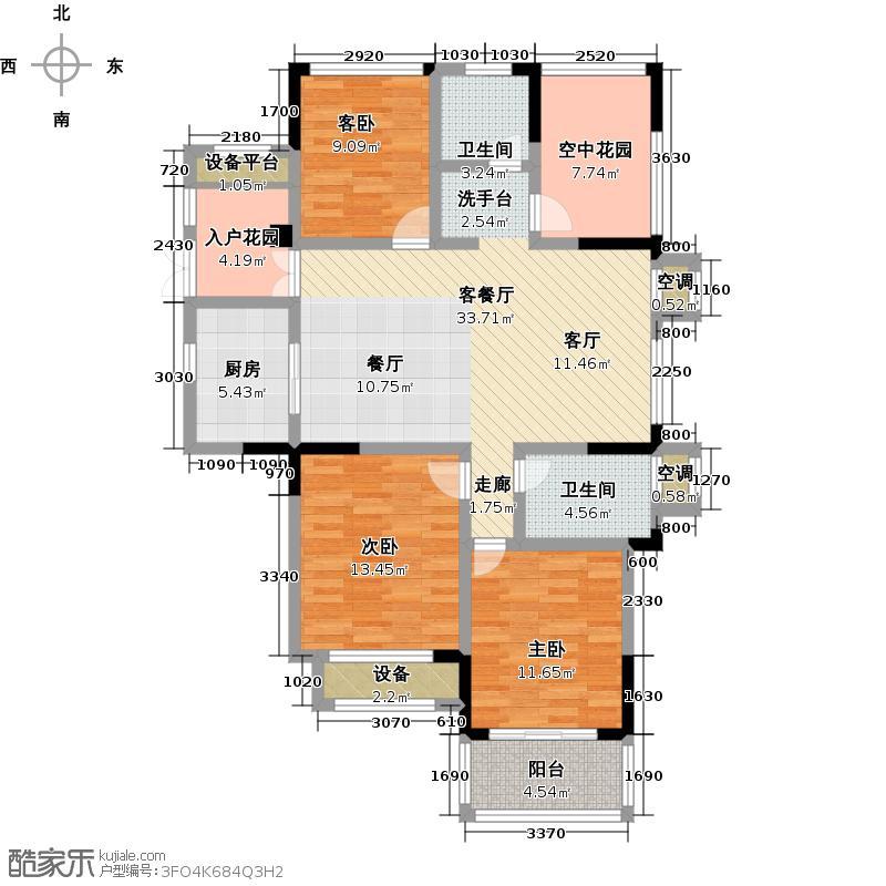 圣巴塞耶120.00㎡三房二厅二卫-120平方米-16套户型