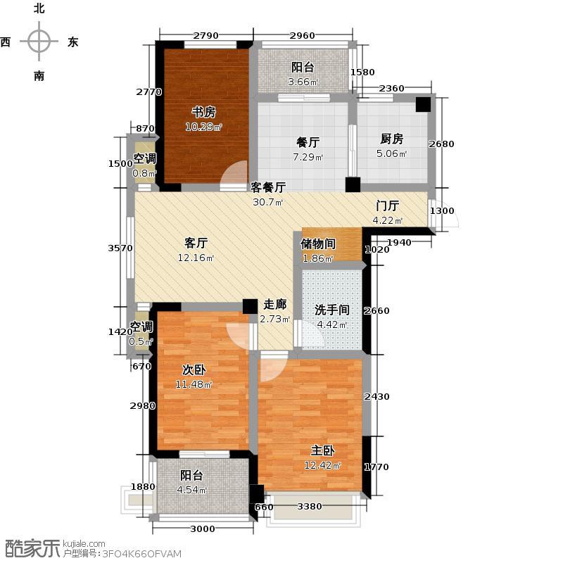 圣巴塞耶101.00㎡三房两厅一卫-111㎡户型