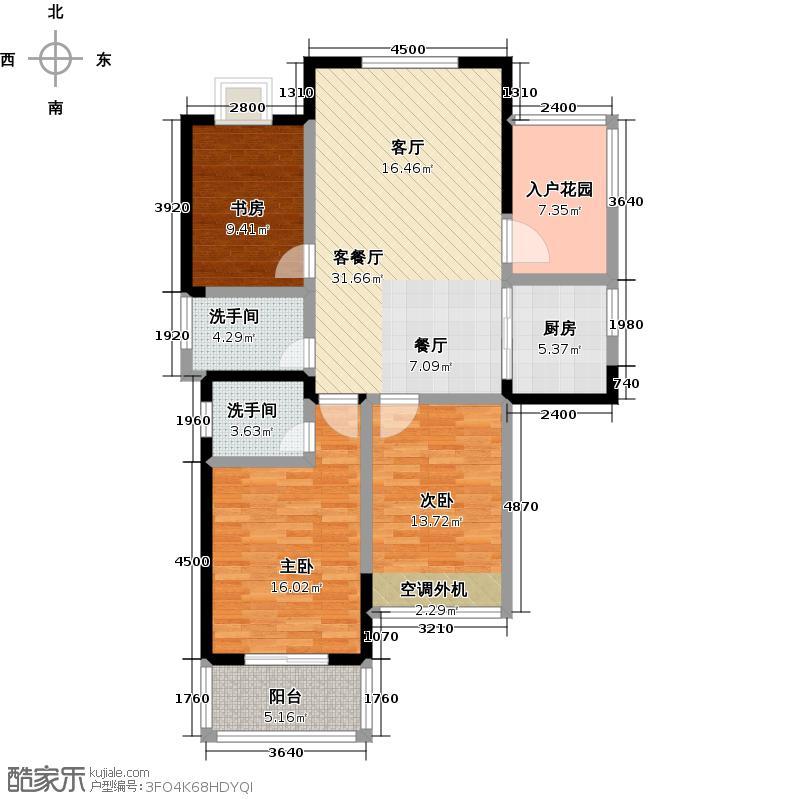 圣巴塞耶111.00㎡三房二厅二卫-111平方米-23套户型
