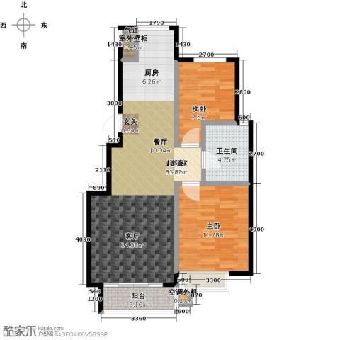 知语山2室0厅1卫0厨87.00㎡户型图