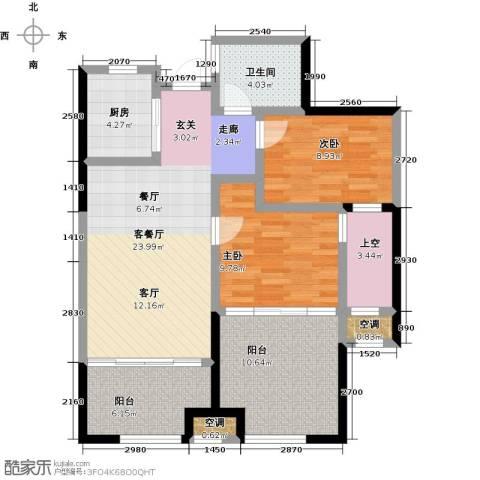 阳光龙庭2室1厅1卫1厨86.00㎡户型图