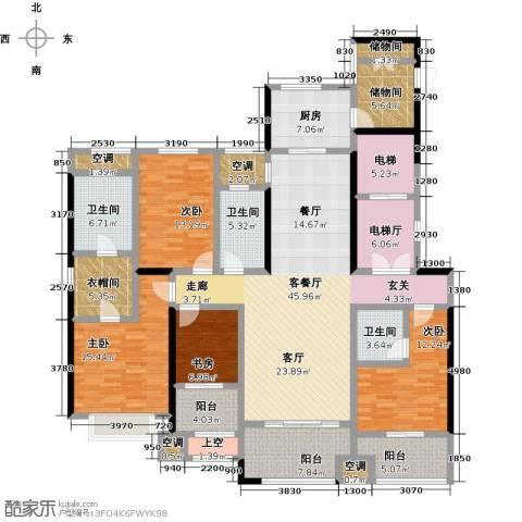 龙湖香醍漫步4室1厅3卫1厨193.00㎡户型图