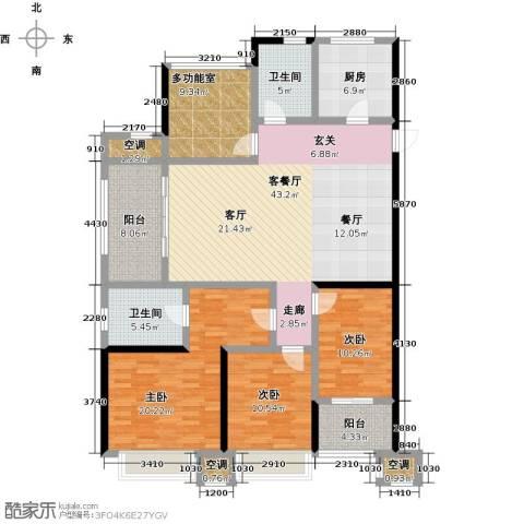 龙湖香醍漫步3室1厅2卫1厨182.00㎡户型图