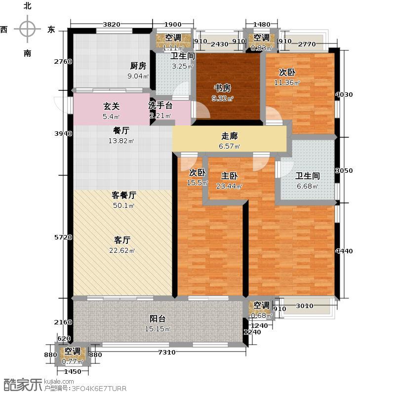 龙湖香醍漫步168.00㎡132号楼雁来168平米户型4室2厅2卫