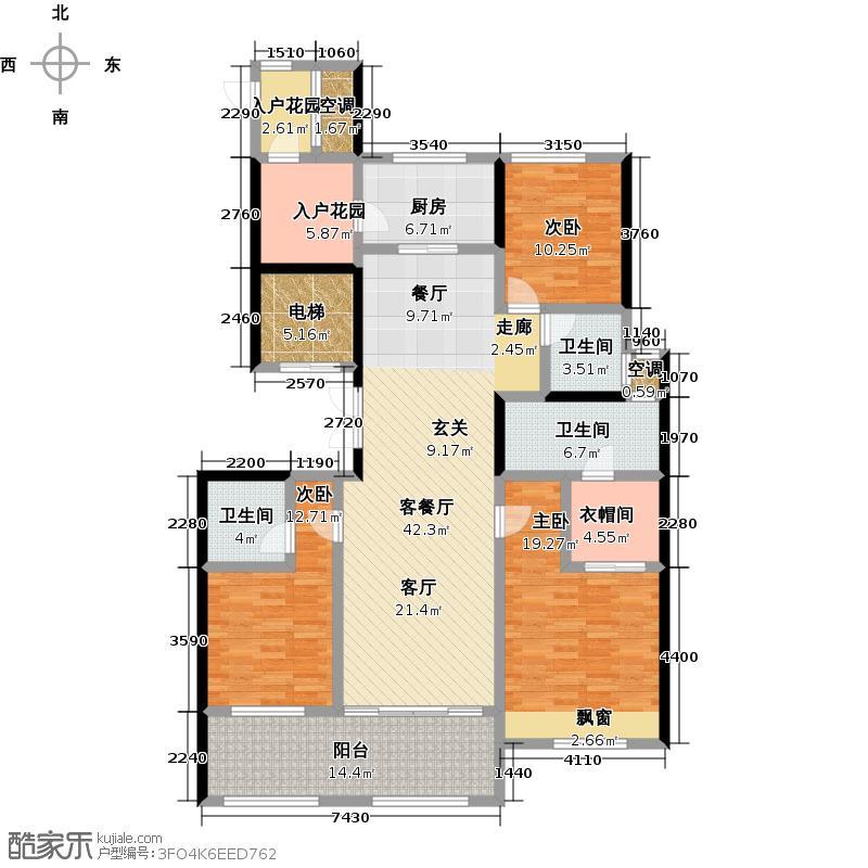 龙湖香醍漫步162.00㎡龙湖雅望 3室2厅3卫户型3室2厅3卫