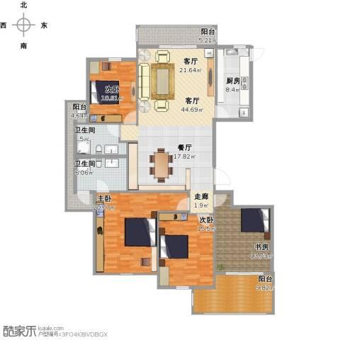 香格里拉花园4室1厅2卫1厨195.00㎡户型图