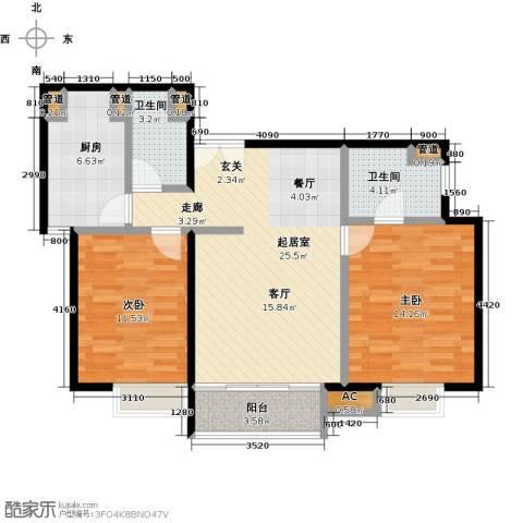 时代紫芳(竹园)2室0厅2卫1厨104.00㎡户型图