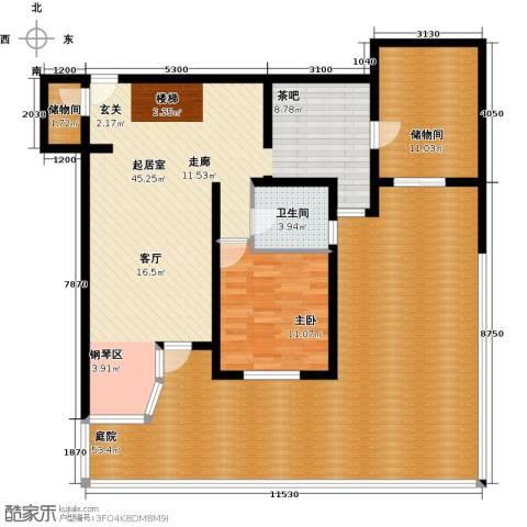 珠江拉维小镇1室0厅1卫0厨177.00㎡户型图