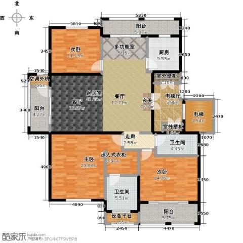 领秀城3室0厅2卫1厨197.00㎡户型图