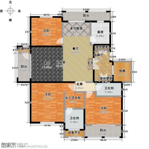 领秀城3室0厅2卫1厨225.00㎡户型图