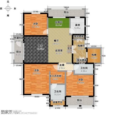 领秀城3室0厅2卫1厨196.00㎡户型图