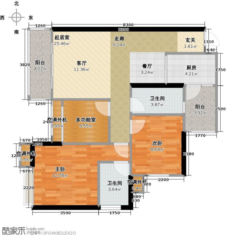 天景美梦城真35.40㎡房型: 一房; 面积段: 35.4 -49.41 平方米;户型