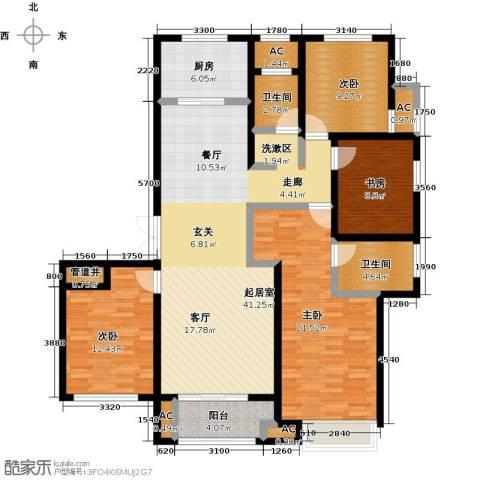 科达府左华苑4室0厅2卫1厨168.00㎡户型图