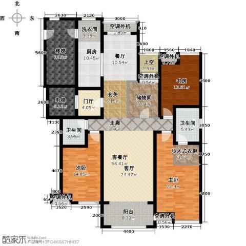 华润公元九里3室1厅2卫1厨177.00㎡户型图