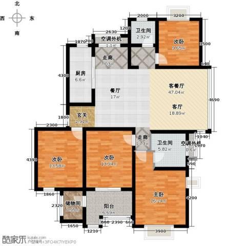 高尔夫国际花园4室1厅2卫1厨183.00㎡户型图