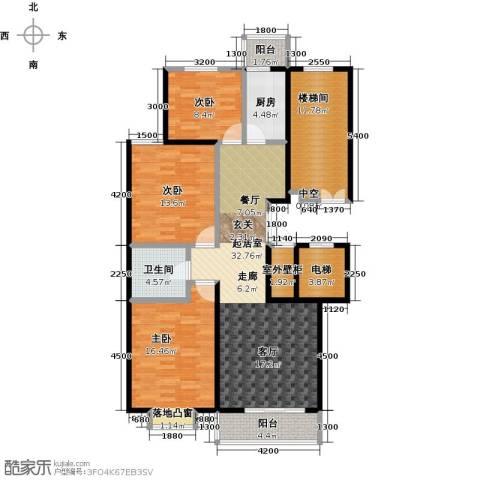 鼎泰翠湖山3室0厅1卫1厨148.00㎡户型图