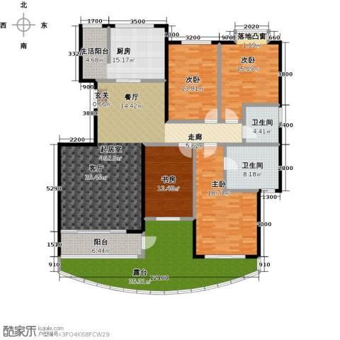 鼎泰翠湖山4室0厅2卫1厨232.00㎡户型图