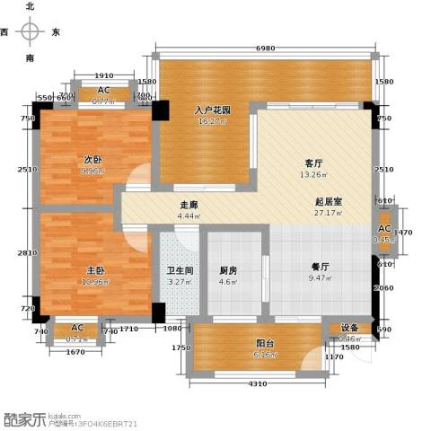 花季华庭2室0厅1卫1厨94.00㎡户型图