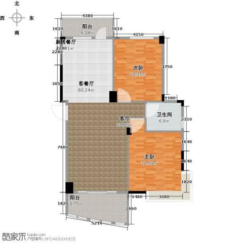 华亭荣园二期2室1厅1卫0厨173.00㎡户型图