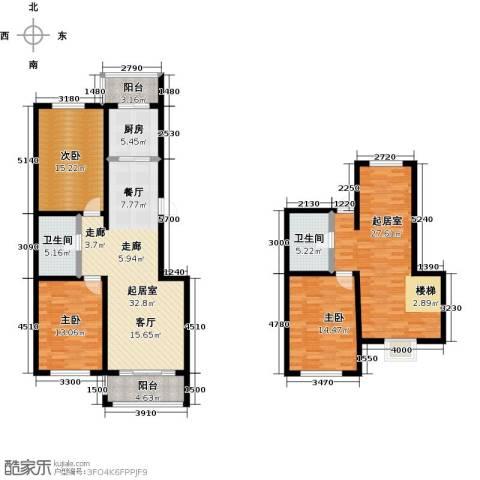 羽丰西江春晓3室0厅2卫1厨158.00㎡户型图
