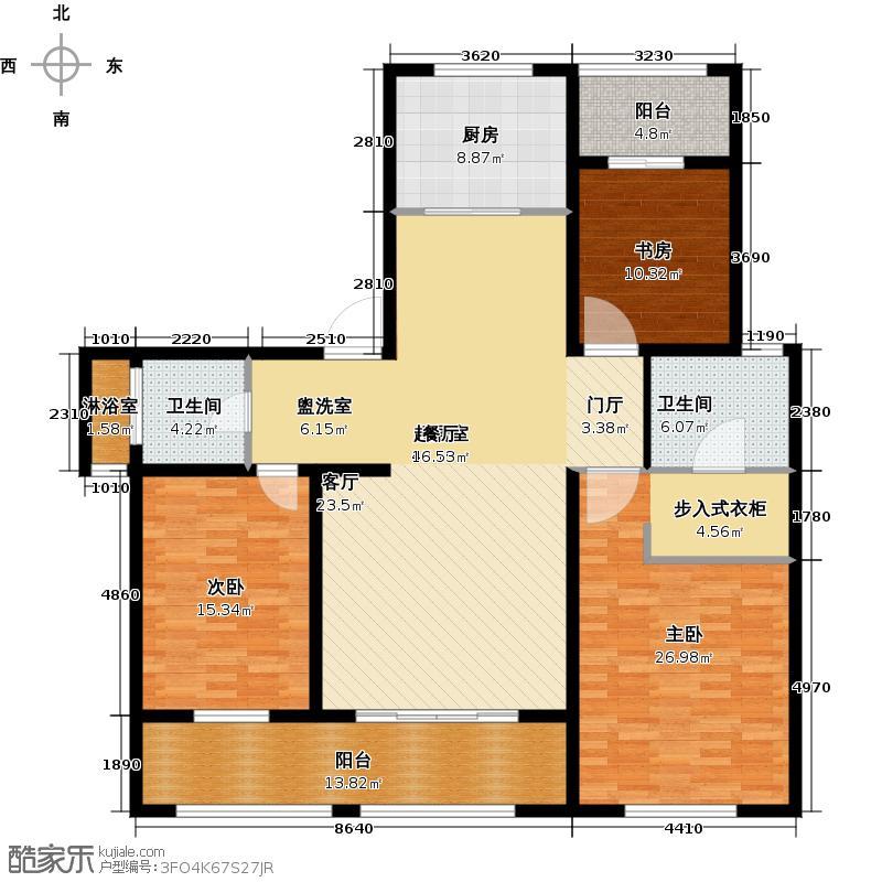 吾悦国际广场159.00㎡香榭丽舍C3 3室2厅2卫户型3室2厅2卫