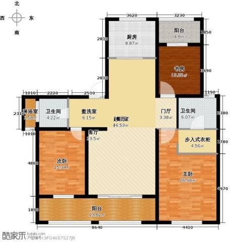 吾悦国际广场3室0厅2卫1厨159.00㎡户型图