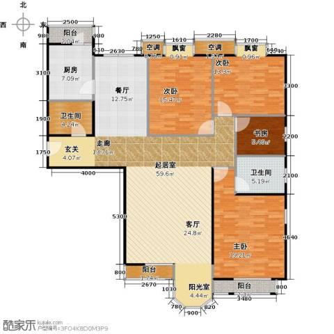 合生珠江罗马嘉园4室0厅2卫1厨172.00㎡户型图