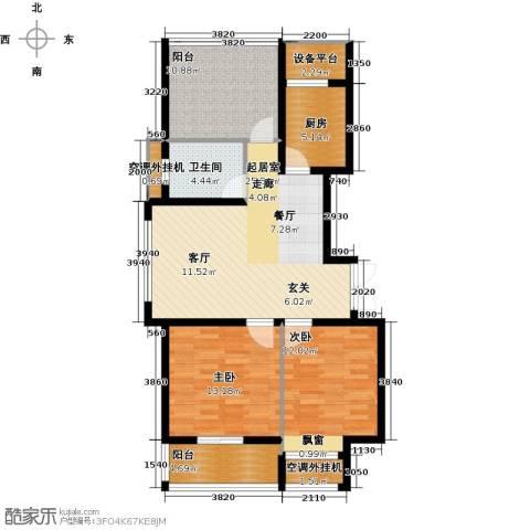 丰臣国际广场2室0厅1卫1厨93.00㎡户型图