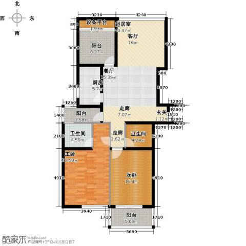 丰臣国际广场2室0厅2卫1厨126.00㎡户型图