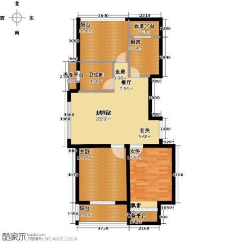 丰臣国际广场2室0厅1卫1厨116.00㎡户型图