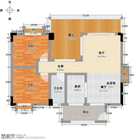 花季华庭2室0厅1卫1厨123.00㎡户型图