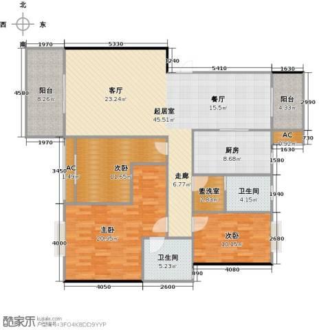 长房东郡(二期)3室0厅2卫1厨135.00㎡户型图