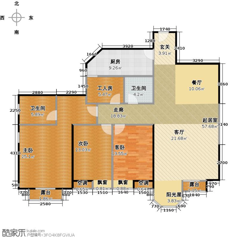 合生珠江罗马嘉园163.28㎡非凡气度户型