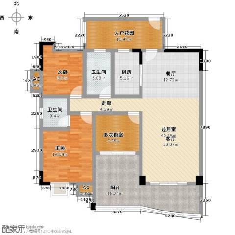 花季华庭2室0厅2卫1厨141.00㎡户型图