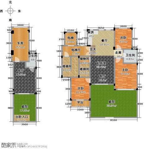 阳光地中海3室1厅2卫0厨285.00㎡户型图