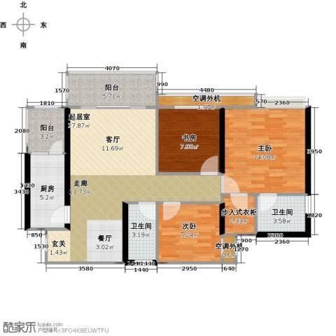 天景美梦城真3室0厅2卫1厨116.00㎡户型图