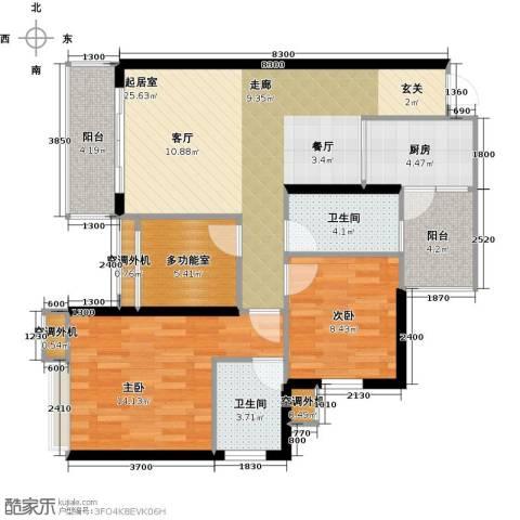 天景美梦城真2室0厅2卫1厨76.06㎡户型图