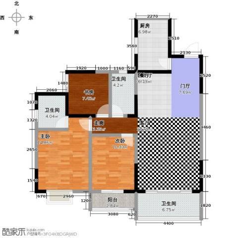 华韵城市风情(一期)3室1厅3卫1厨135.00㎡户型图