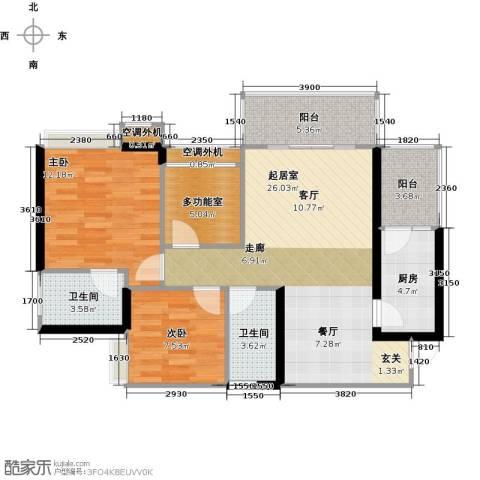 天景美梦城真2室0厅2卫1厨103.00㎡户型图