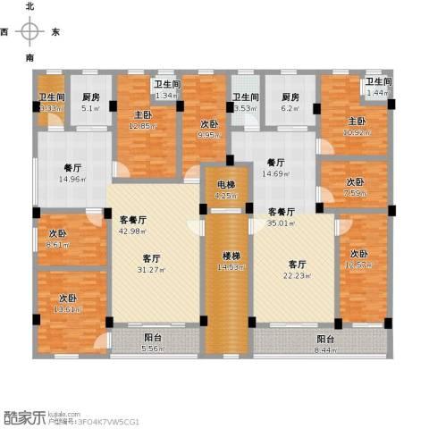 花园小区7室2厅4卫2厨301.00㎡户型图