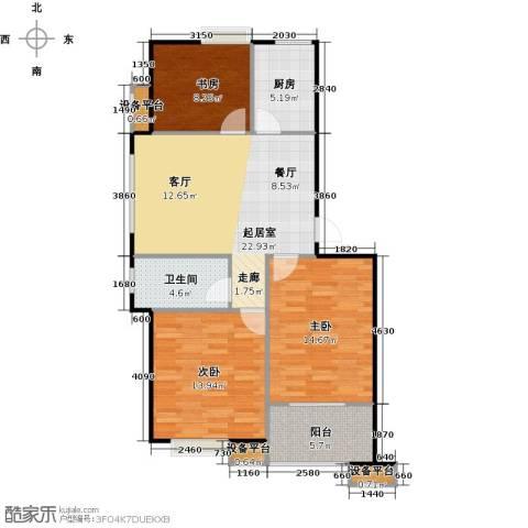 蔚海新天地3室0厅1卫1厨86.00㎡户型图